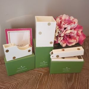 Kate Spade Gold Dot Desk Set NWT